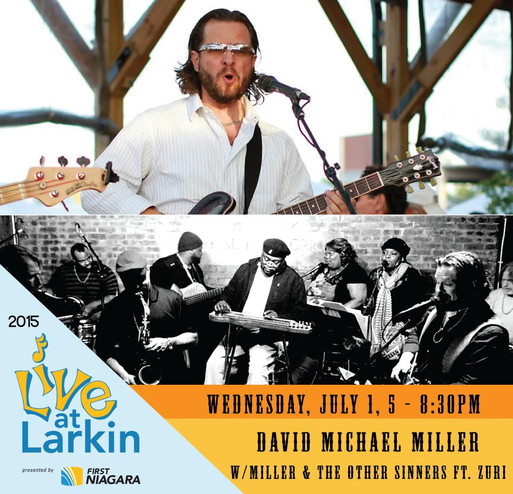 Live at Larkin David Michael Miller flyer