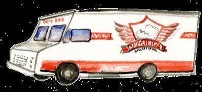Dirty Bird Chicken And Waffels Illustration
