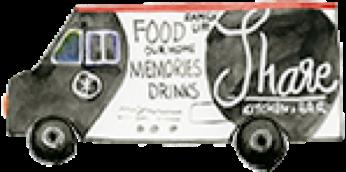 Share Kitchen and Bar Room Illustration