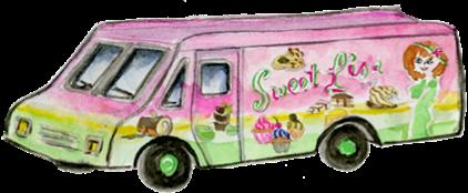 Sweet Lisa Truck Illustration