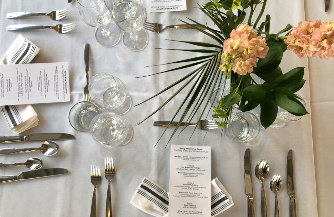 aerial view of place setting
