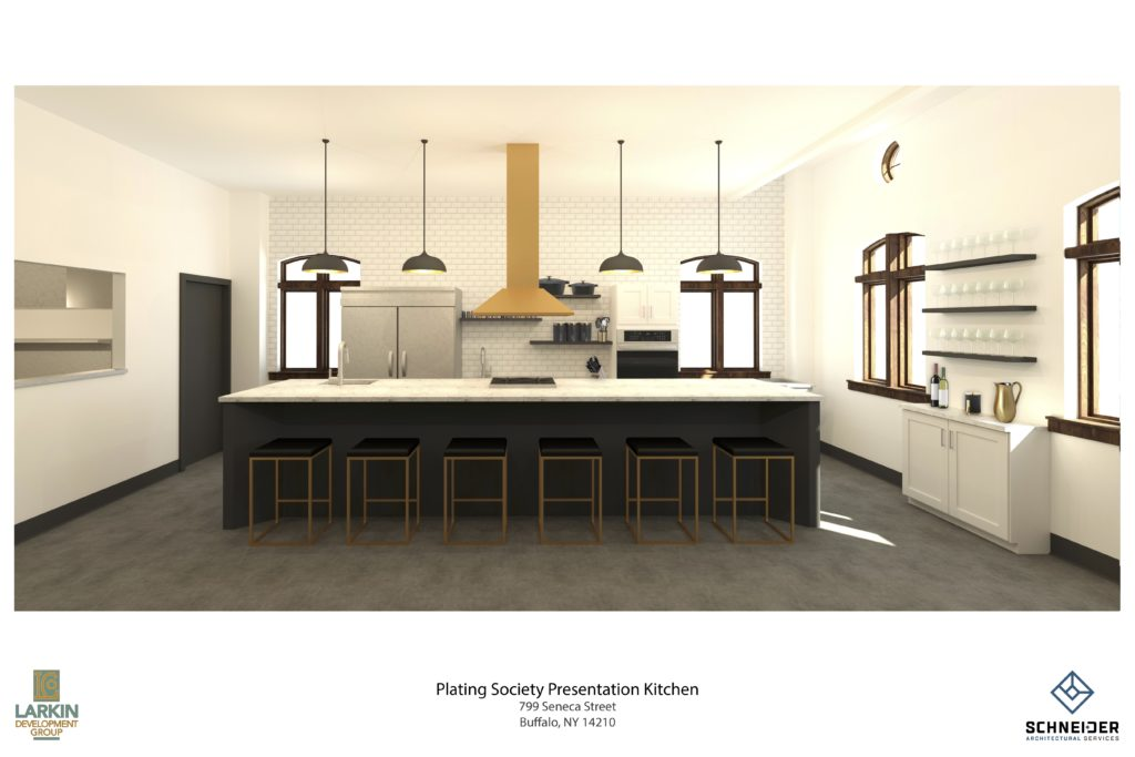 A rendering of the planned space for the Plating Society.